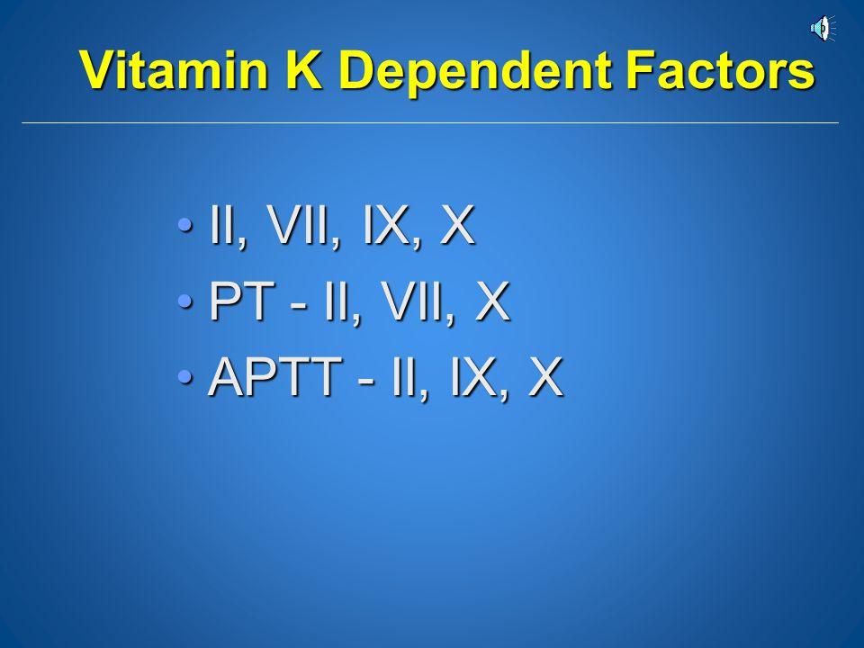 Vitamin K Dependent Factors
