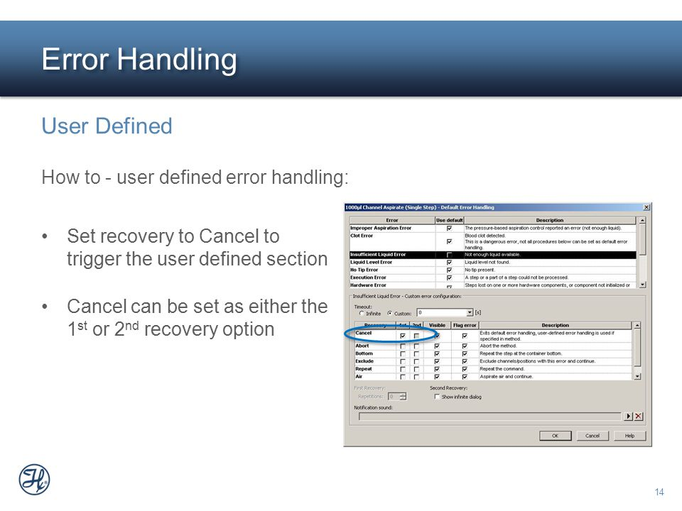 Error Handling User Defined How to - user defined error handling: