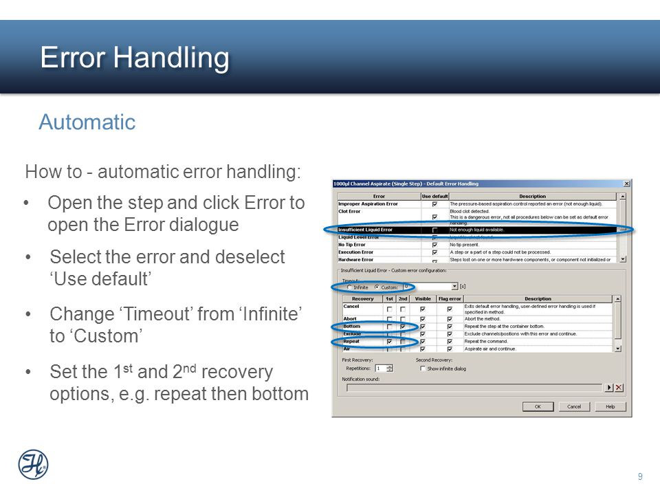 Error Handling Automatic How to - automatic error handling: