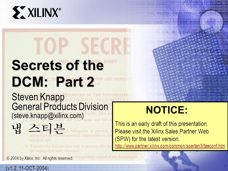 Secrets of the DCM: Part 2
