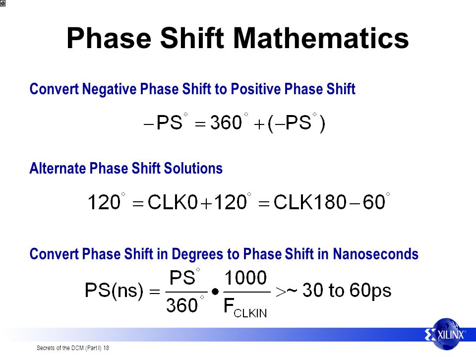 Phase Shift Mathematics