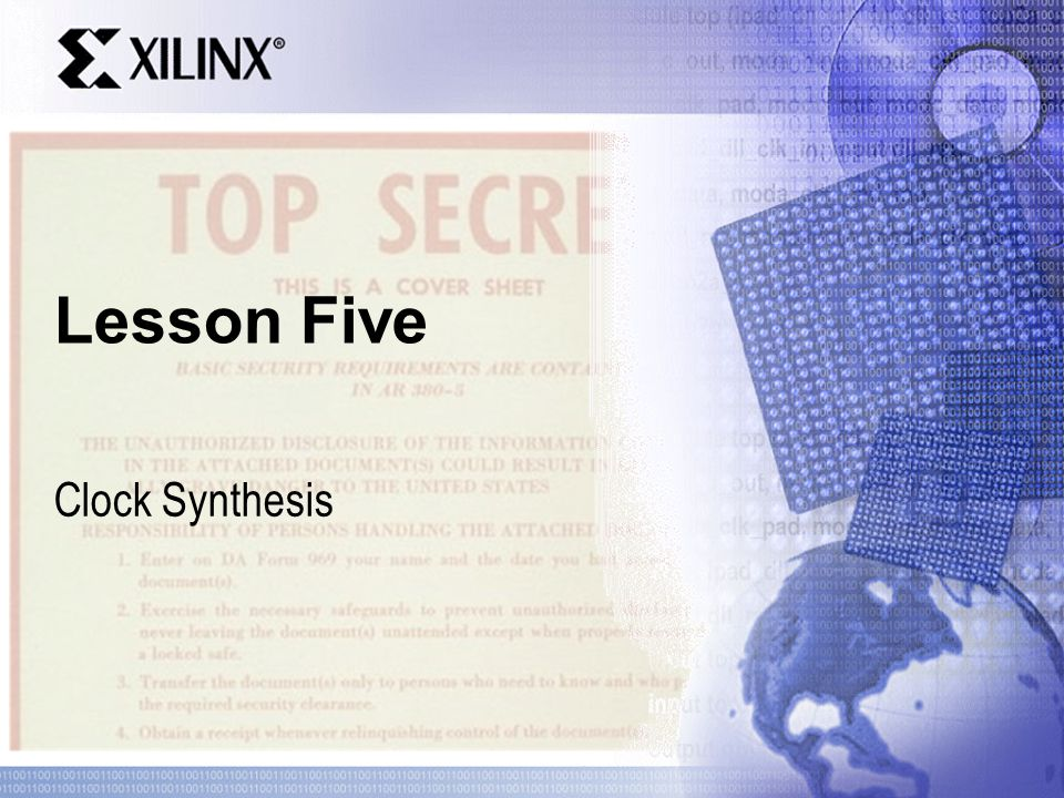 Lesson Five Clock Synthesis