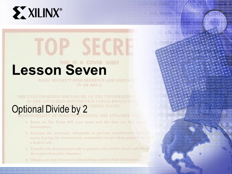 Lesson Seven Optional Divide by 2