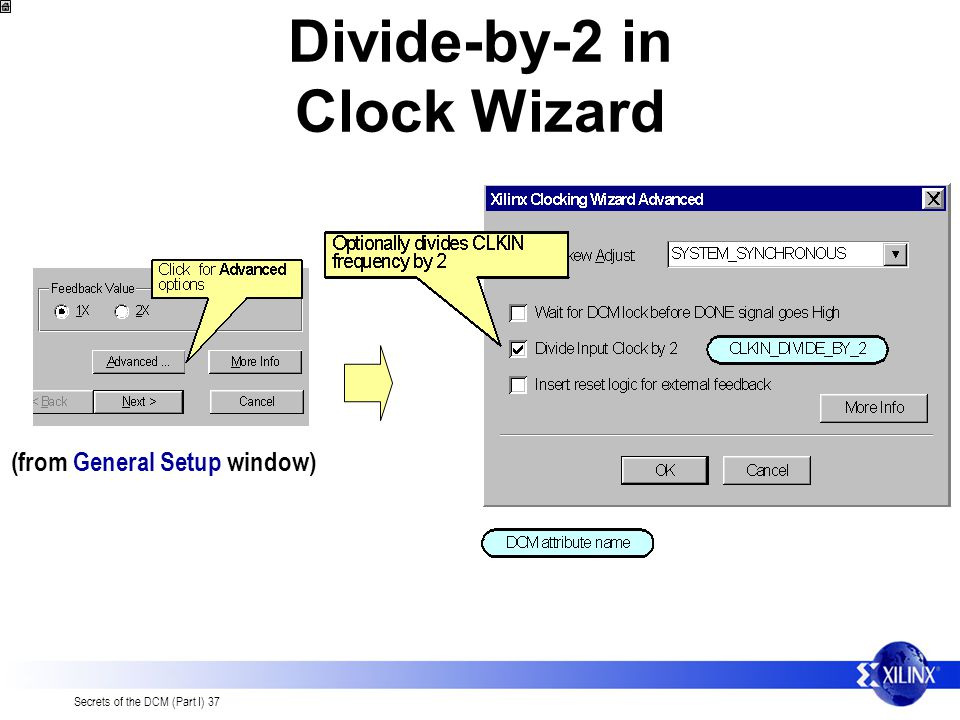 Divide-by-2 in Clock Wizard