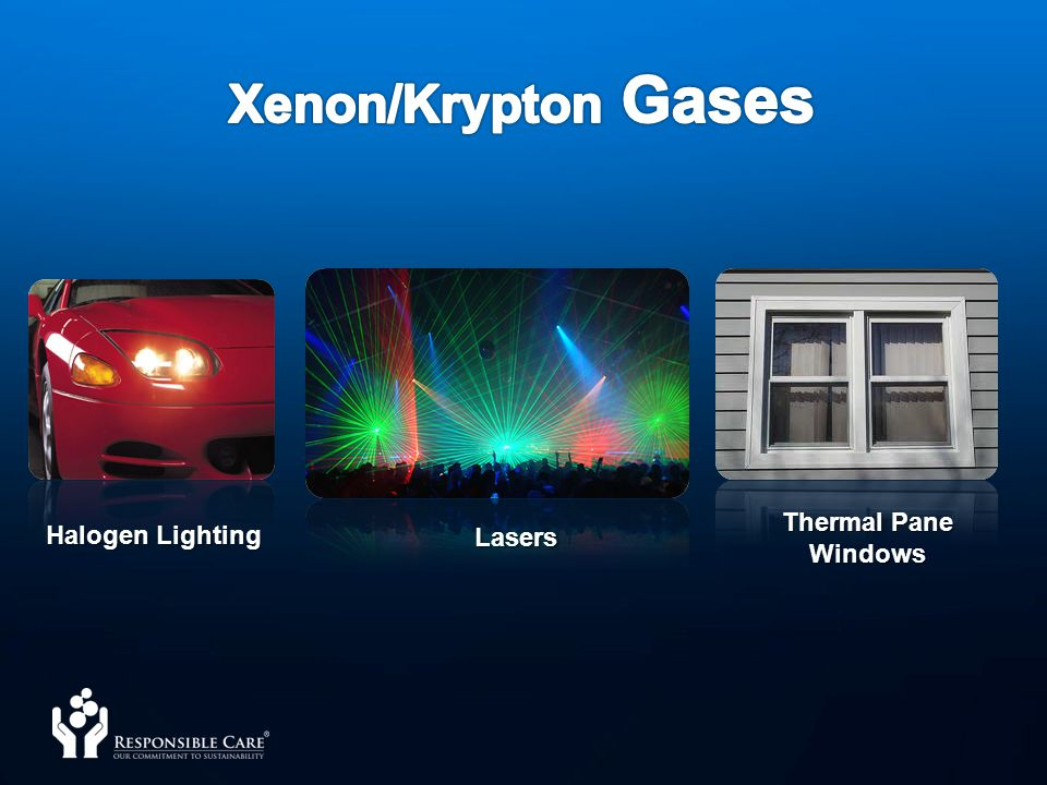 Xenon/Krypton Gases Thermal Pane Windows Halogen Lighting Lasers