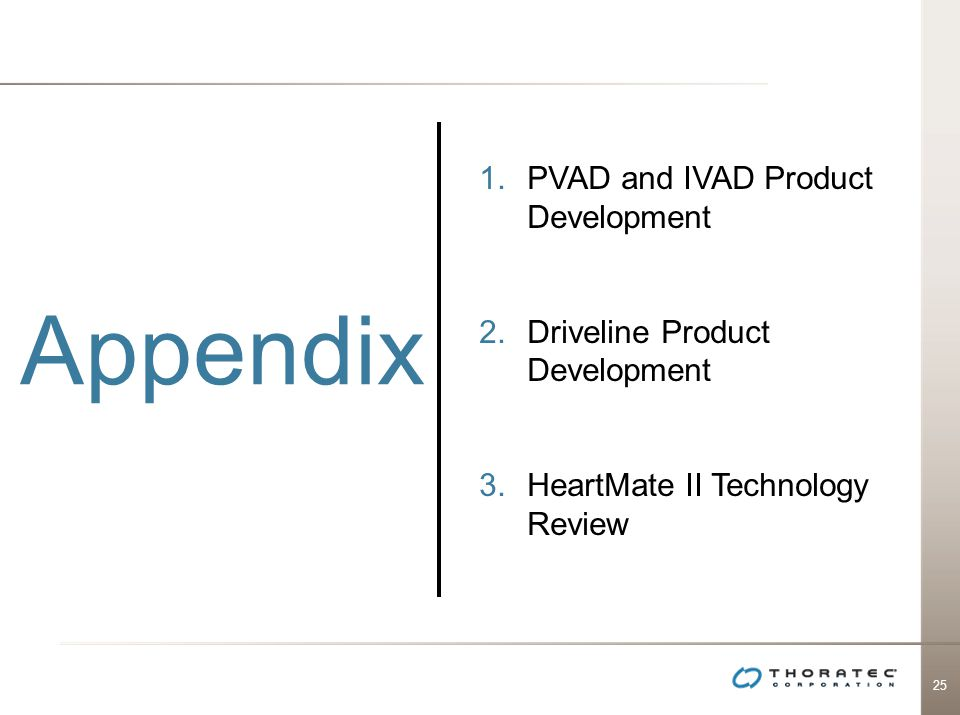 Appendix PVAD and IVAD Product Development