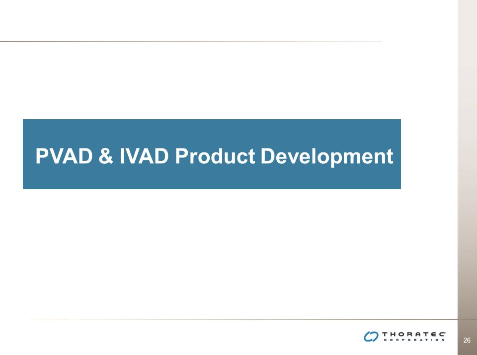 PVAD & IVAD Product Development