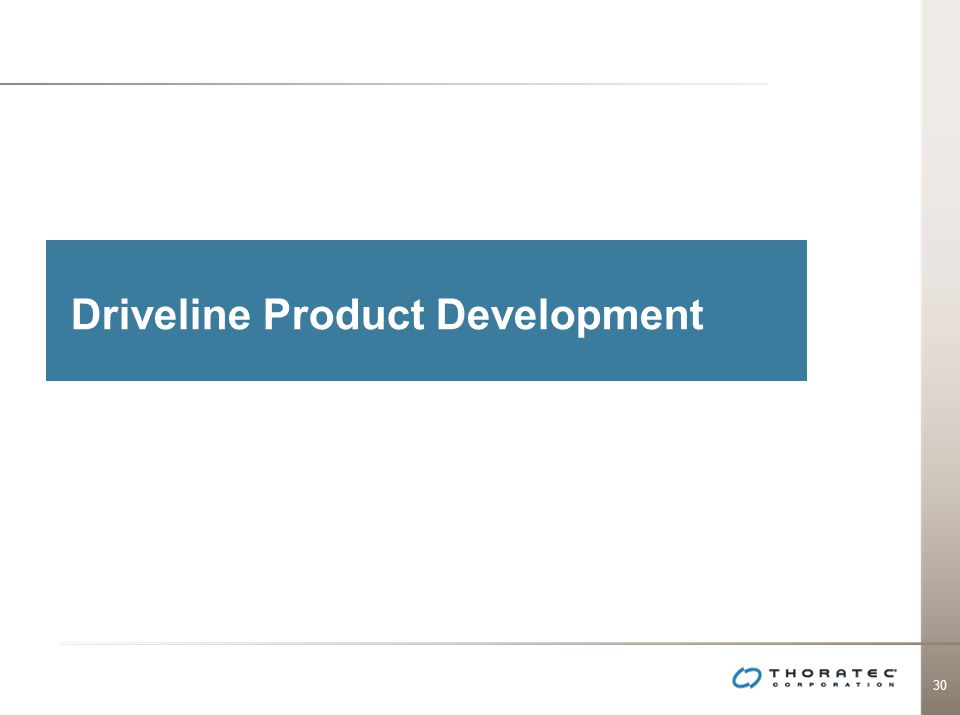 Driveline Product Development