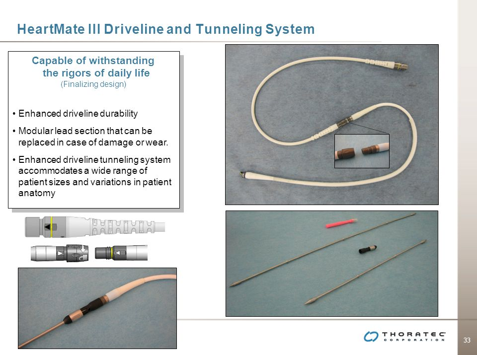 HeartMate III Driveline and Tunneling System