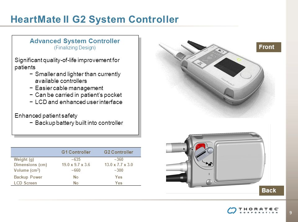 HeartMate II G2 System Controller