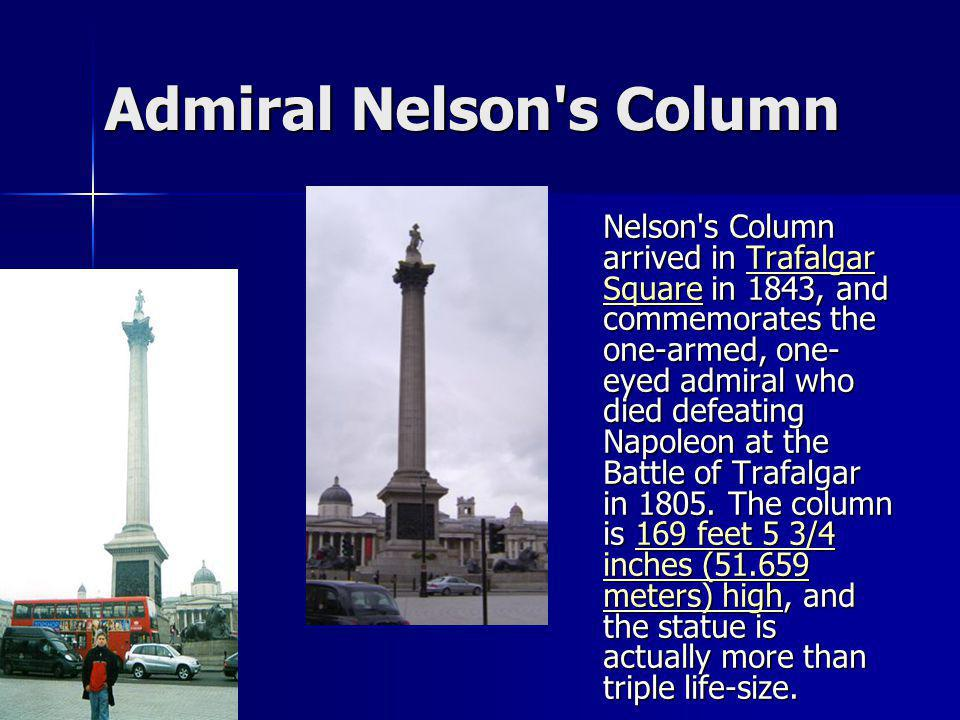 Admiral Nelson s Column