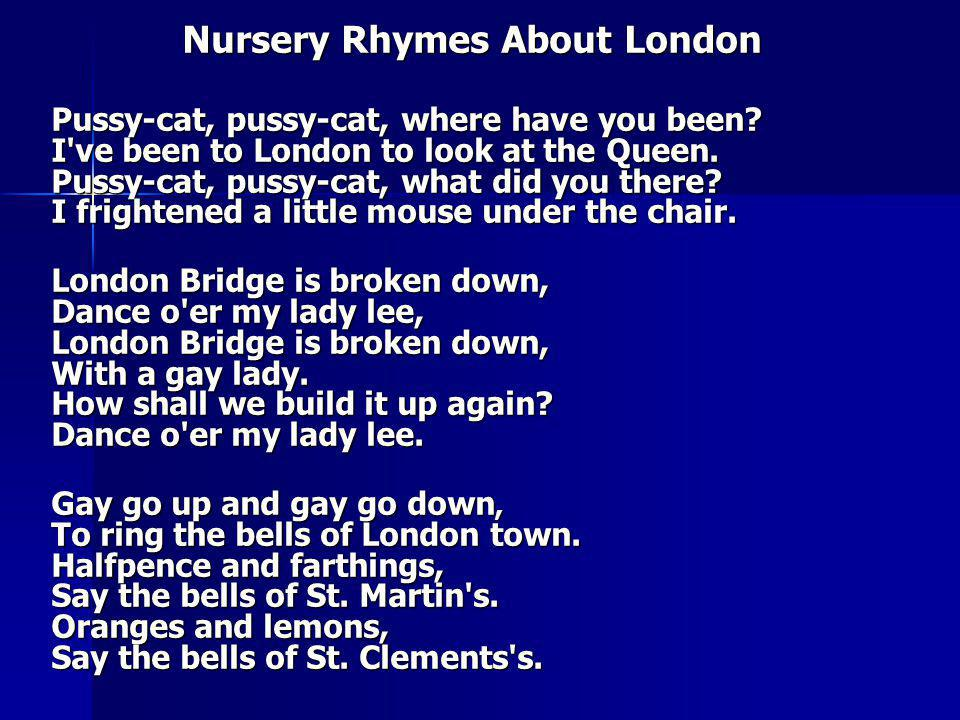 Nursery Rhymes About London