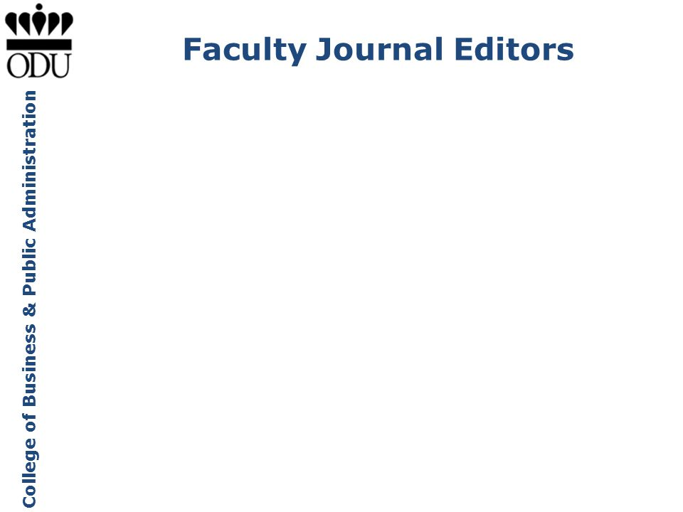 Faculty Journal Editors