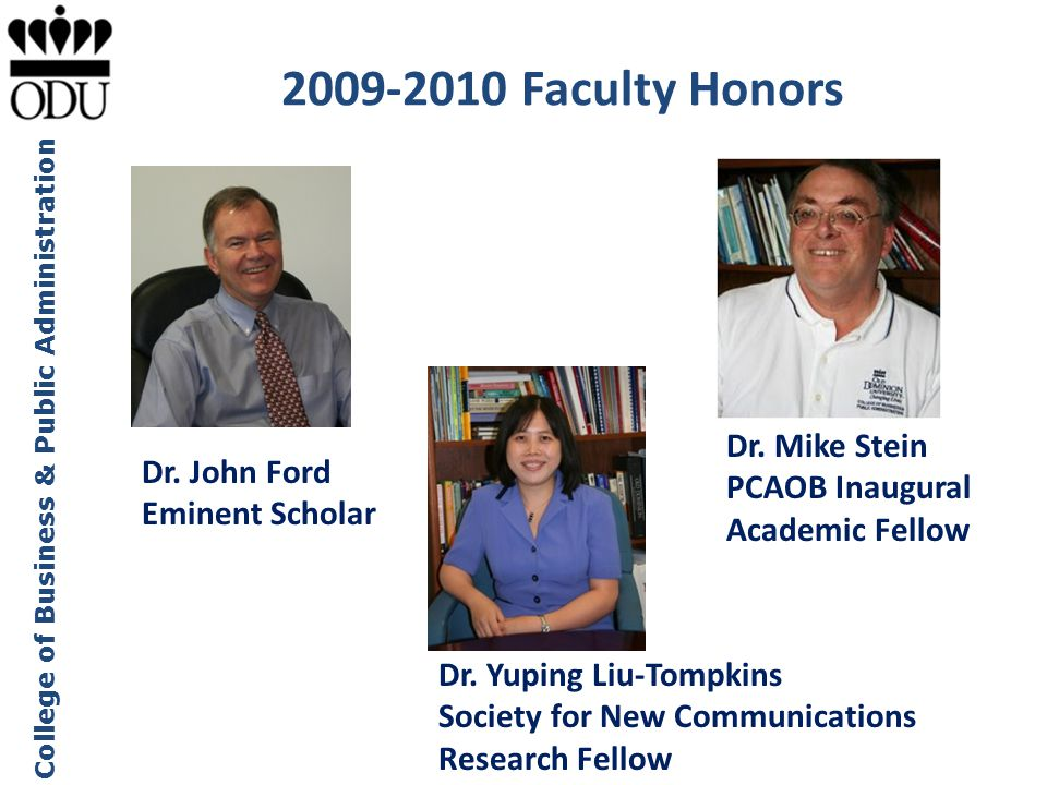 2009-2010 Faculty Honors Dr. Mike Stein