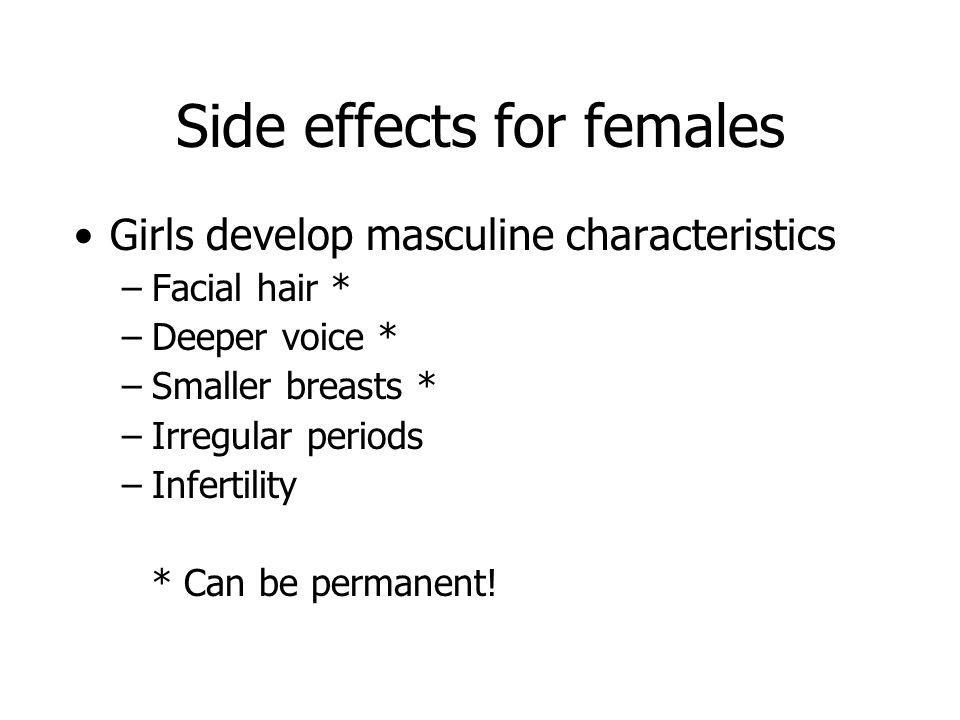 Side effects for females
