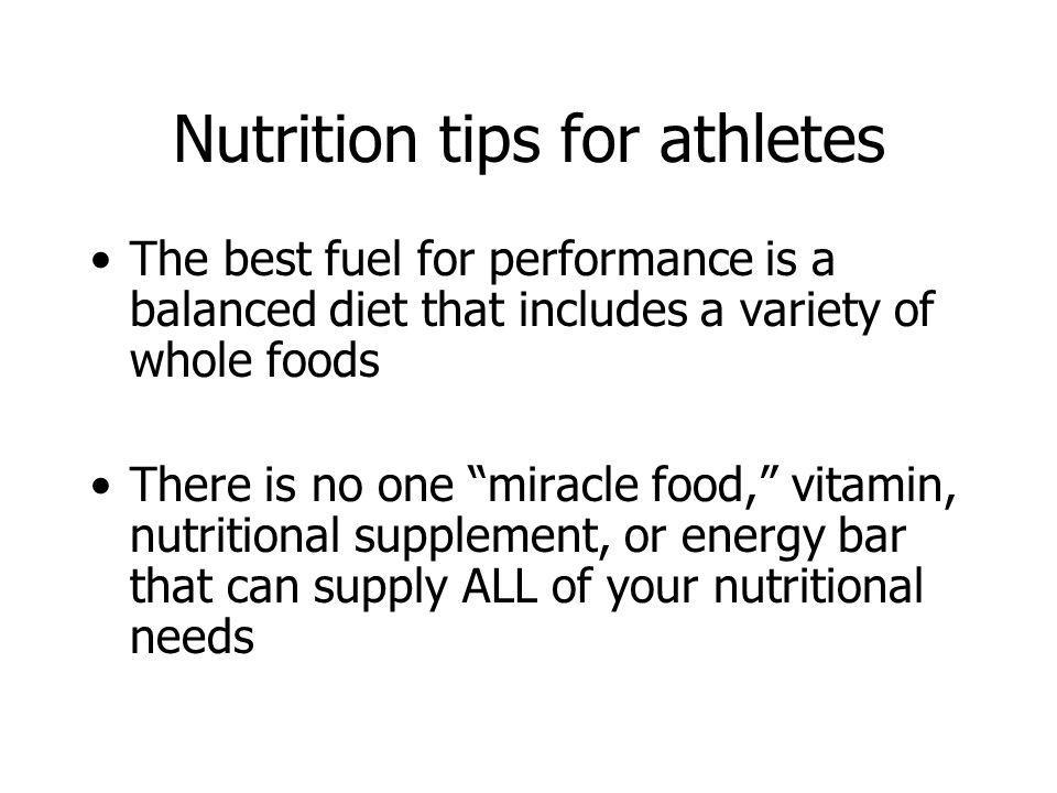 Nutrition tips for athletes
