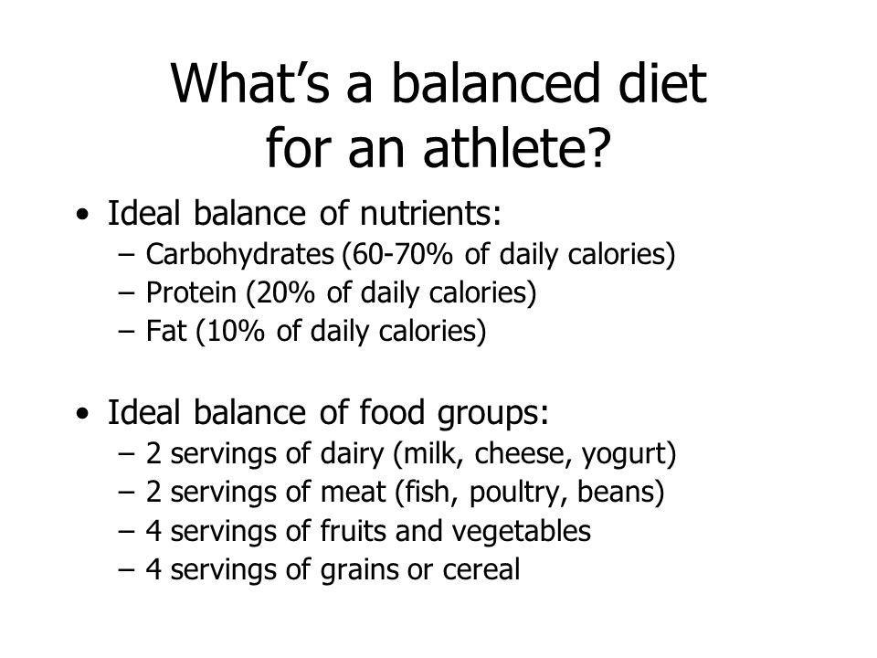 What's a balanced diet for an athlete