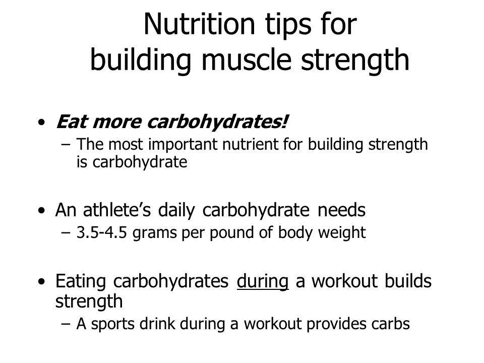 Nutrition tips for building muscle strength