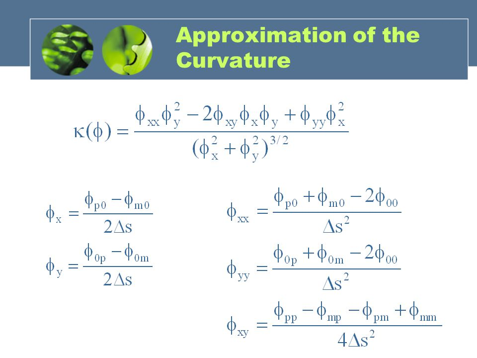 Approximation of the Curvature