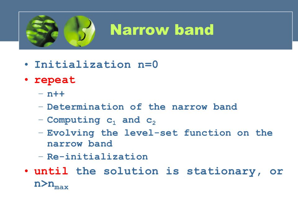 Narrow band Initialization n=0 repeat