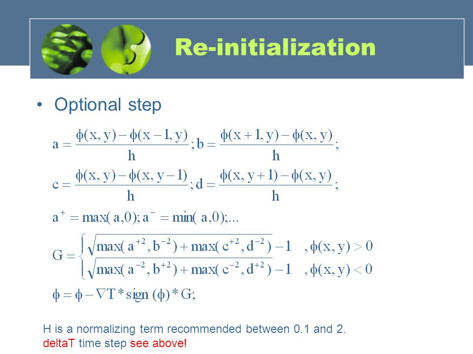 Re-initialization Optional step