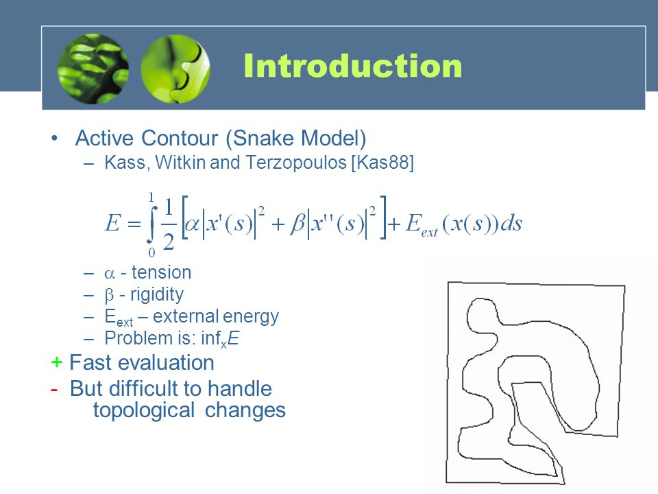 Introduction Active Contour (Snake Model) + Fast evaluation