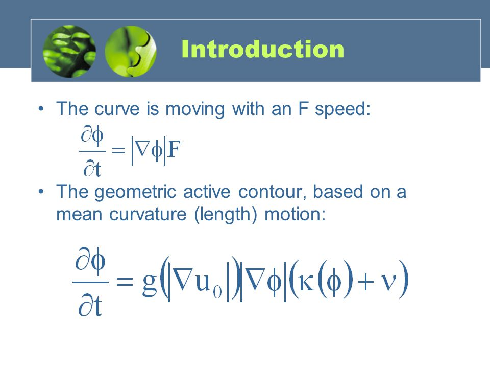 Introduction The curve is moving with an F speed: