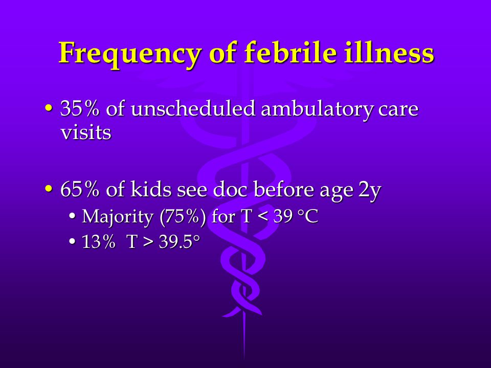 Frequency of febrile illness