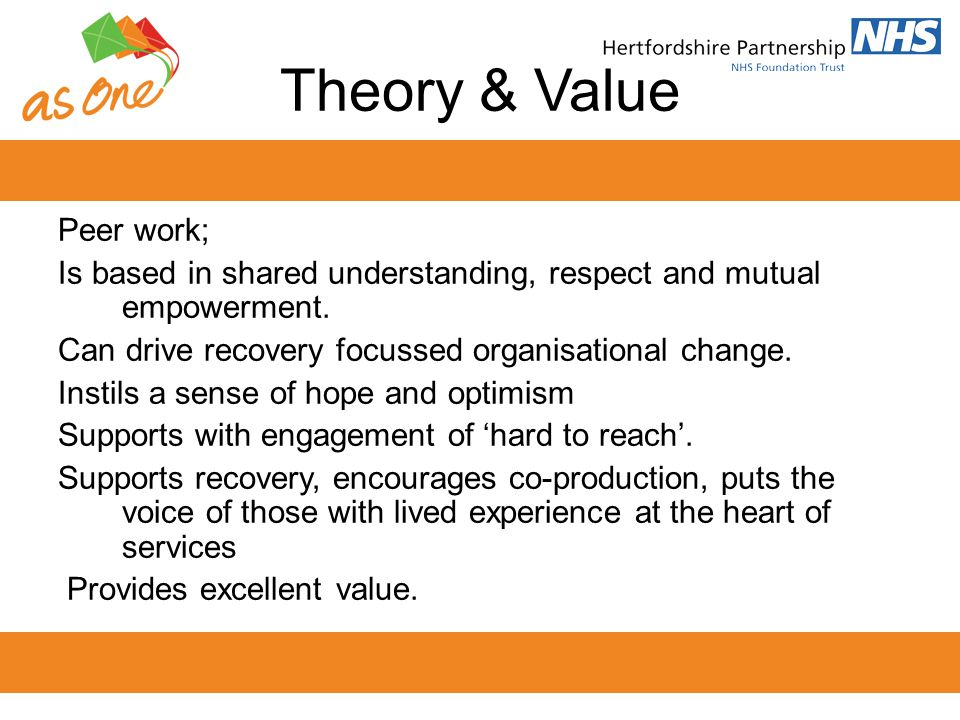 Theory & Value Peer work;