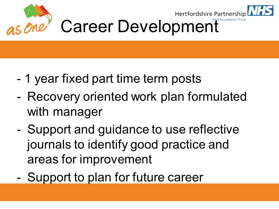 Career Development - 1 year fixed part time term posts