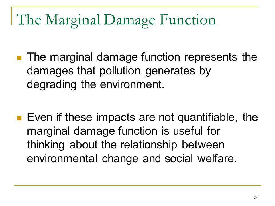 The Marginal Damage Function