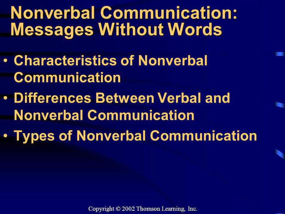 The differences between verbal and nonverbal communication
