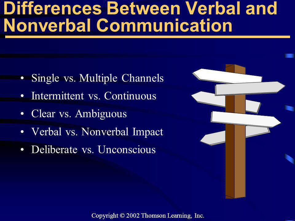 Differences Between Verbal and Nonverbal Communication