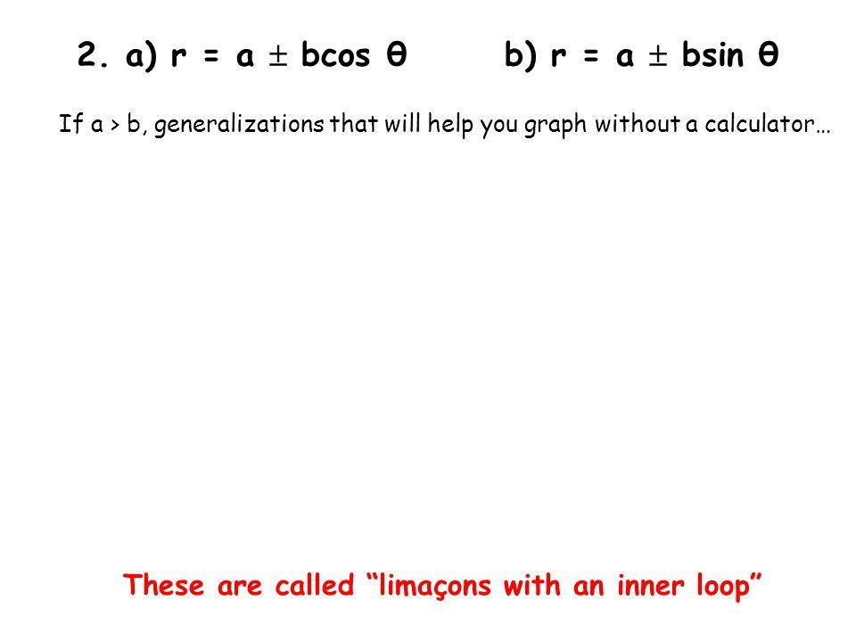 2. a) r = a  bcos θ b) r = a  bsin θ