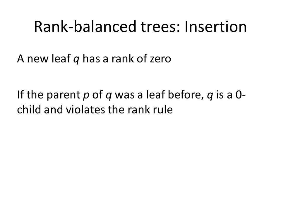 Rank-balanced trees: Insertion