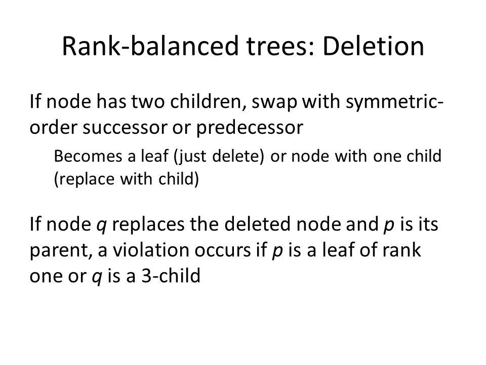 Rank-balanced trees: Deletion