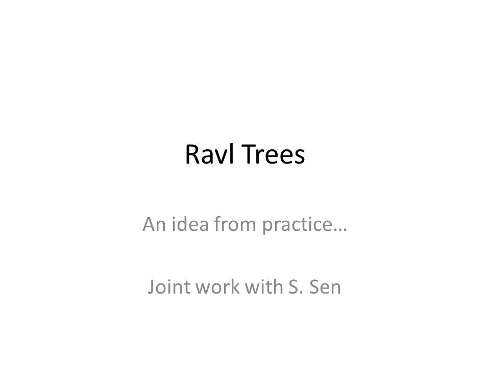 An idea from practice… Joint work with S. Sen