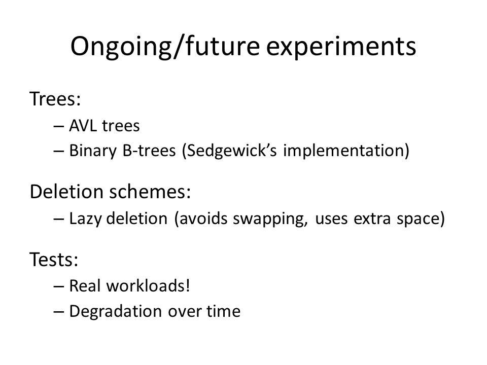 Ongoing/future experiments