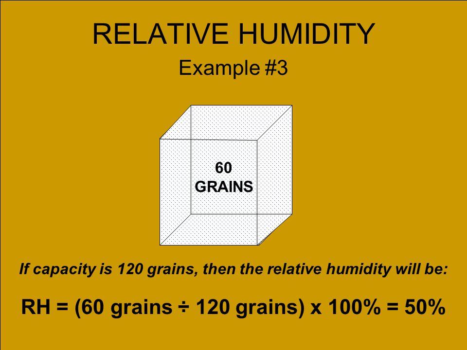 RELATIVE HUMIDITY Example #3