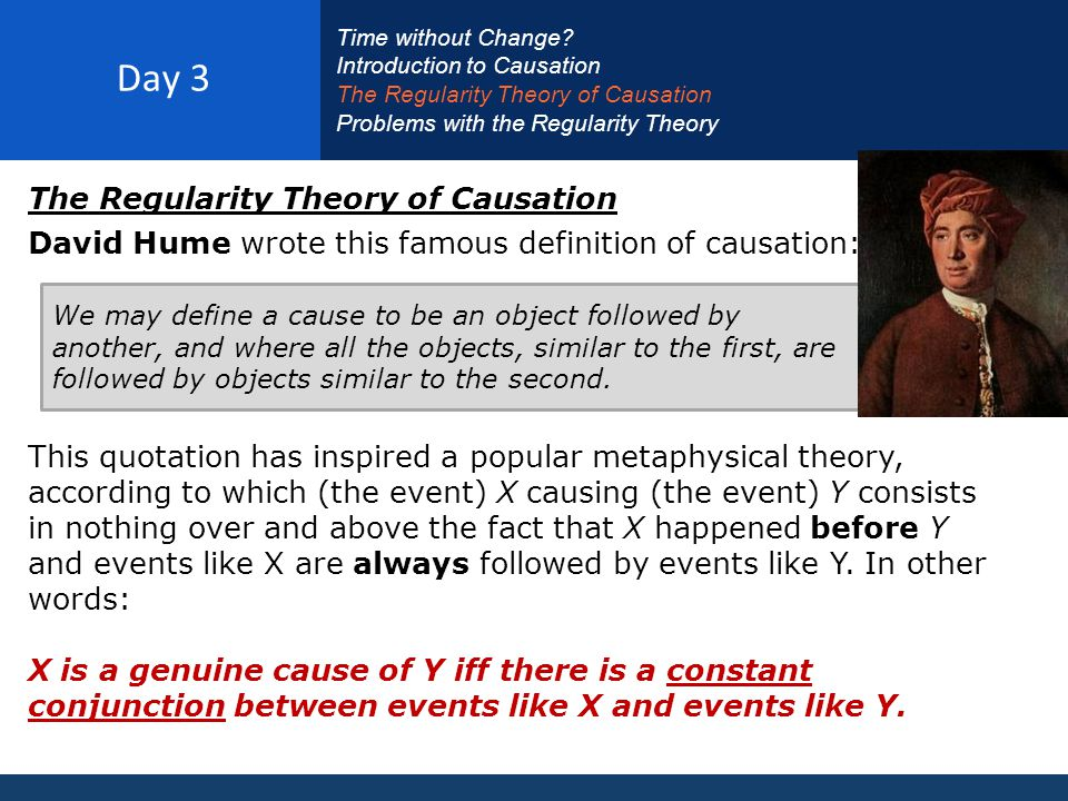 Day 3 The Regularity Theory of Causation