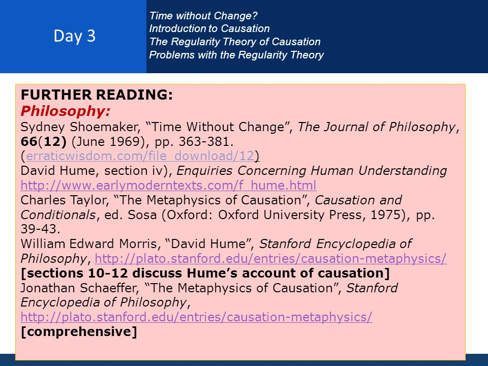 Day 3 FURTHER READING: Philosophy: