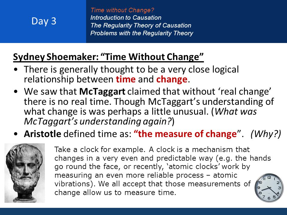 Day 3 Sydney Shoemaker: Time Without Change