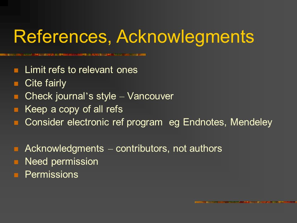 References, Acknowlegments