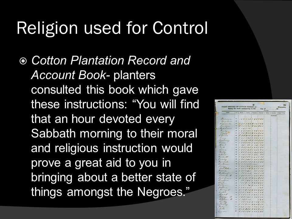 Religion used for Control