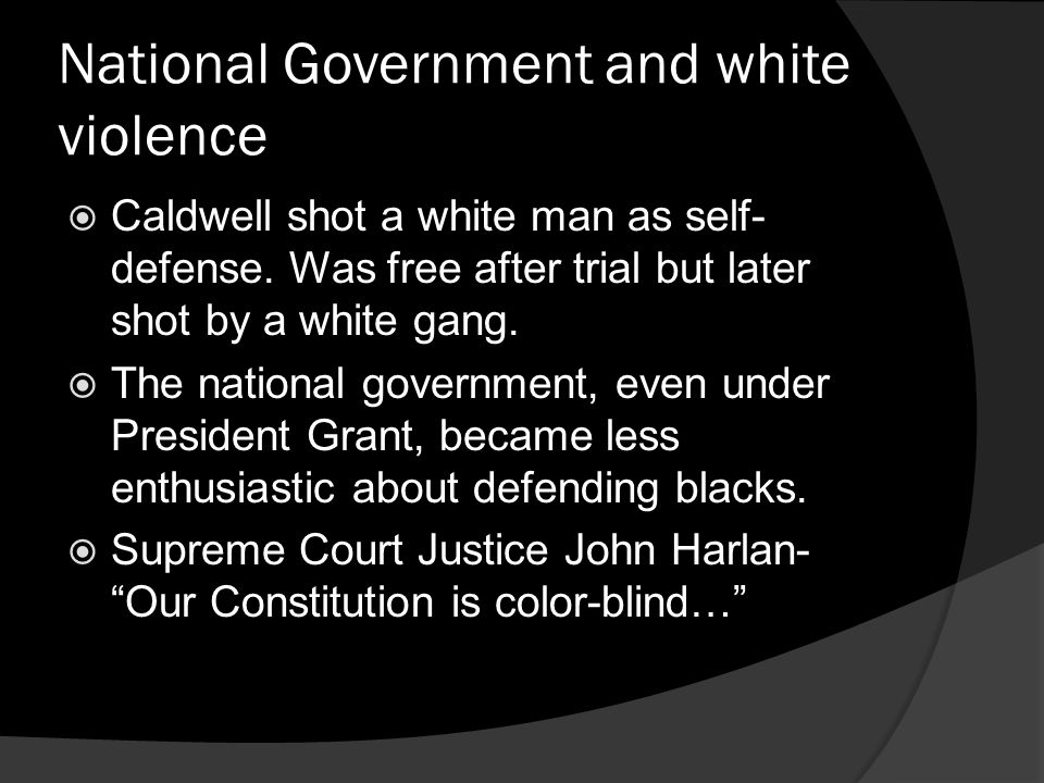 National Government and white violence