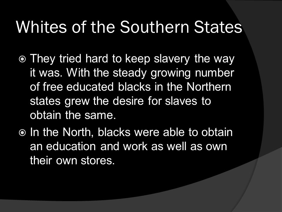 Whites of the Southern States