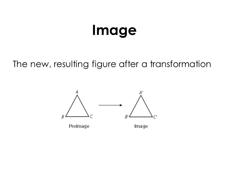 Image The new, resulting figure after a transformation