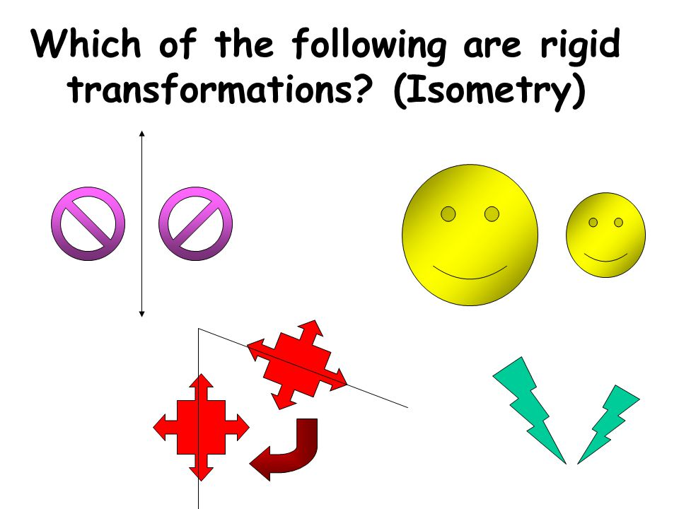 Which of the following are rigid transformations (Isometry)