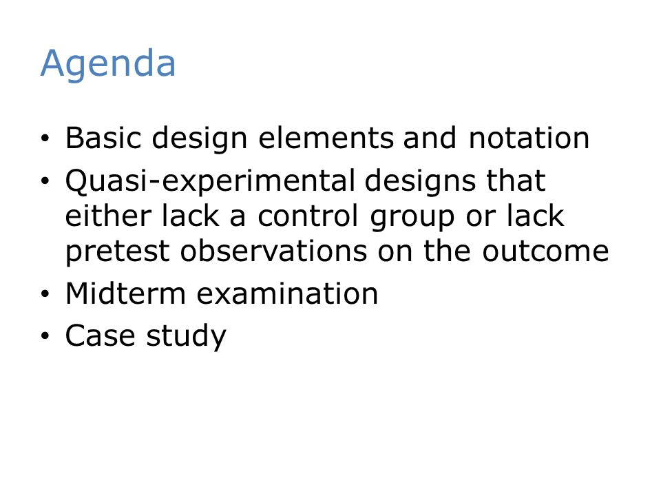 Agenda Basic design elements and notation