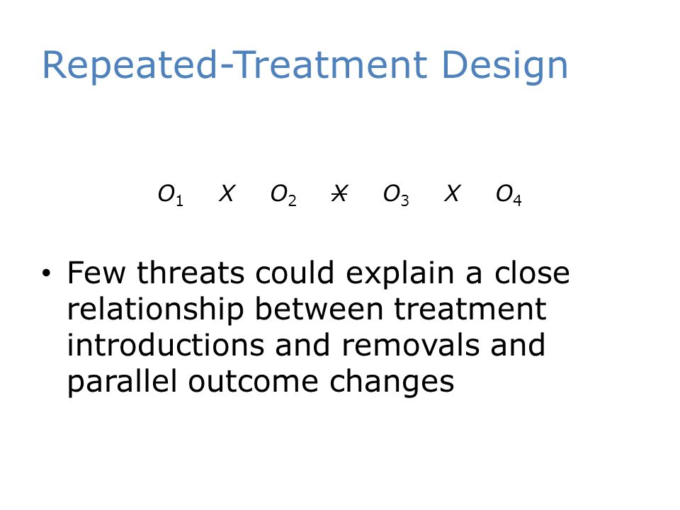 Repeated-Treatment Design